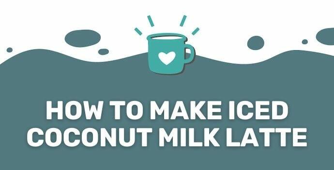 iced coconut mlk latte recipe