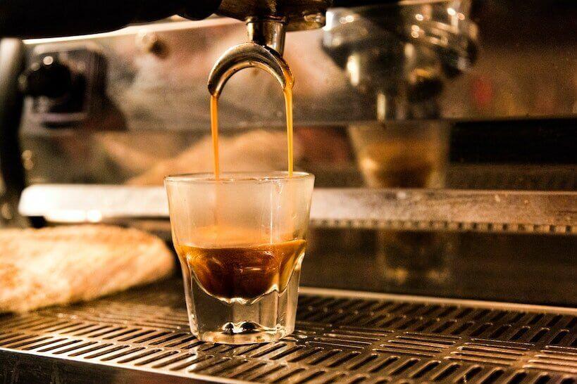 espresso made with overpressure valve