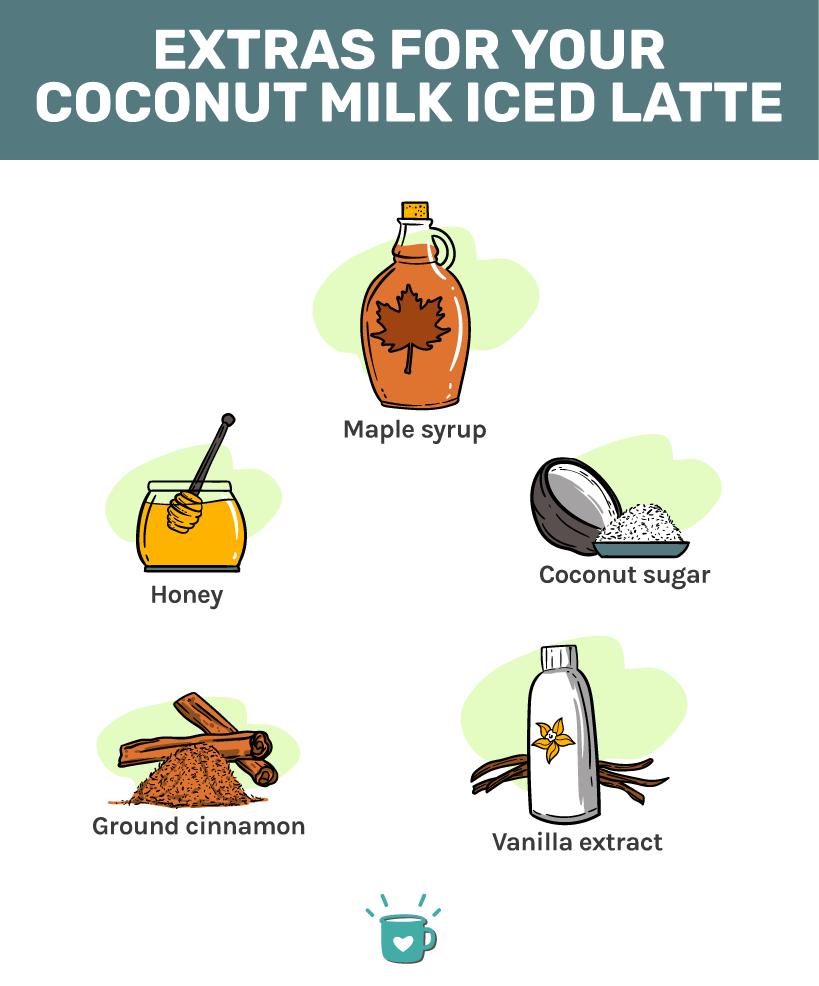 Extras for making the best coconut milk iced latte